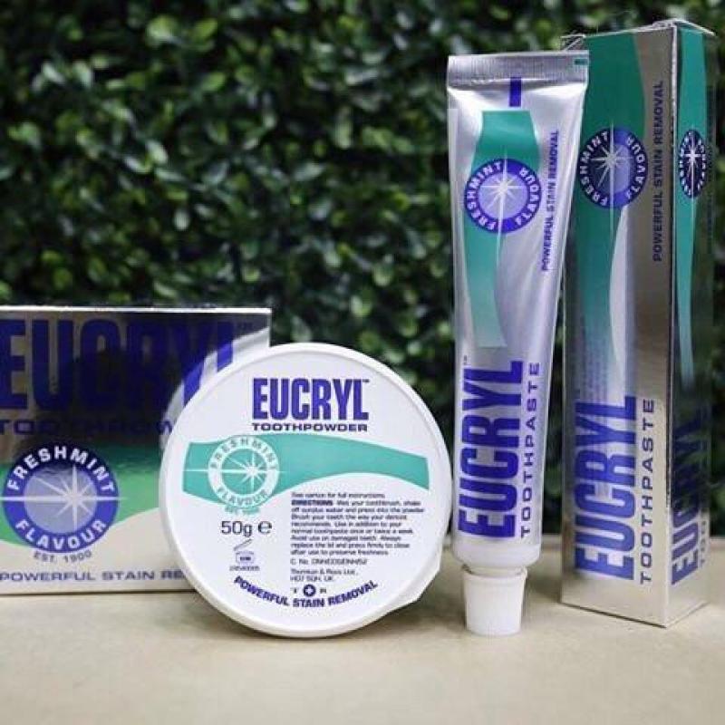 Bột tẩy trắng răng EUCRYL nhập Anh nhập khẩu