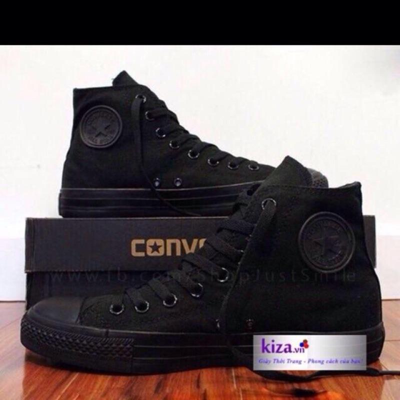 Giày converse classic full đen  cao cổ