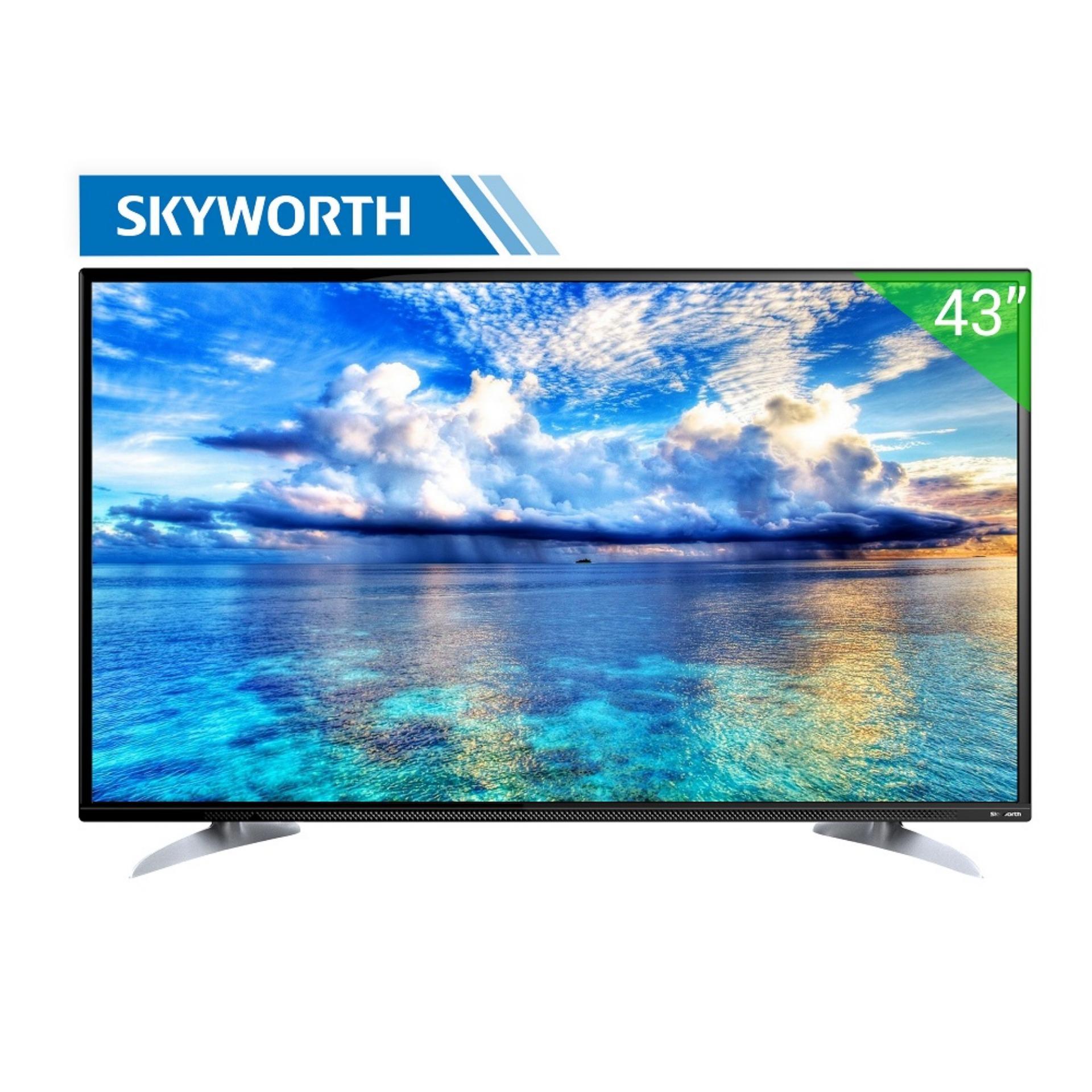 Hình ảnh TV LED Skyworth 43inch HD - Model 43E260 (Đen) - Hãng phân phối chính thức