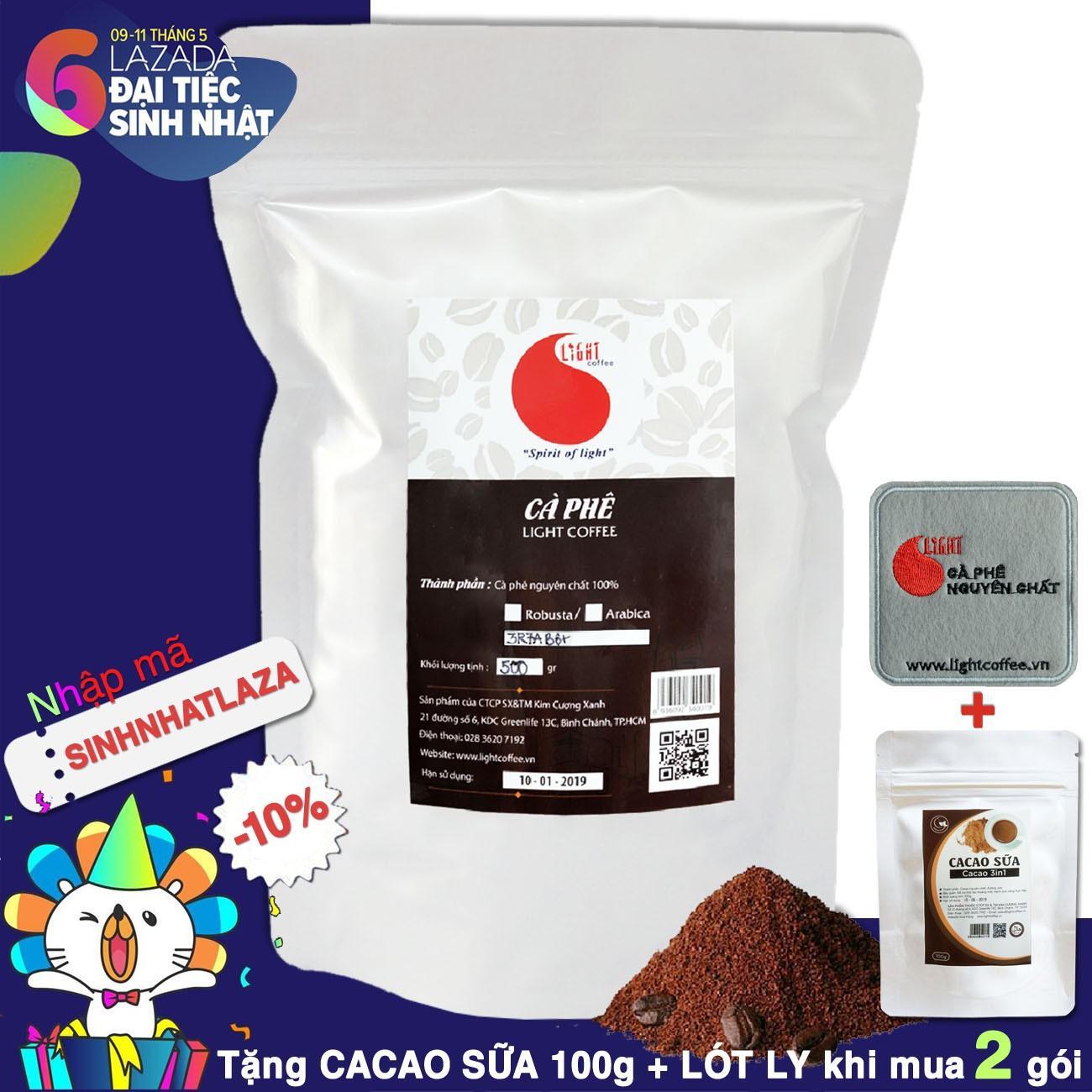 Chiết Khấu Ca Phe Bột Nguyen Chất 100 Chua Thanh Dịu Dang Light Coffee 500Gr Hồ Chí Minh