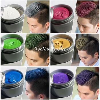 Sáp vuốt tóc tạo màu đầy đủ 8 màu lựa chọn: màu xám khói, màu xanh dương, màu xanh rêu, màu vàng, màu tím, màu đỏ, màu bạch kim, màu hạt dẻ