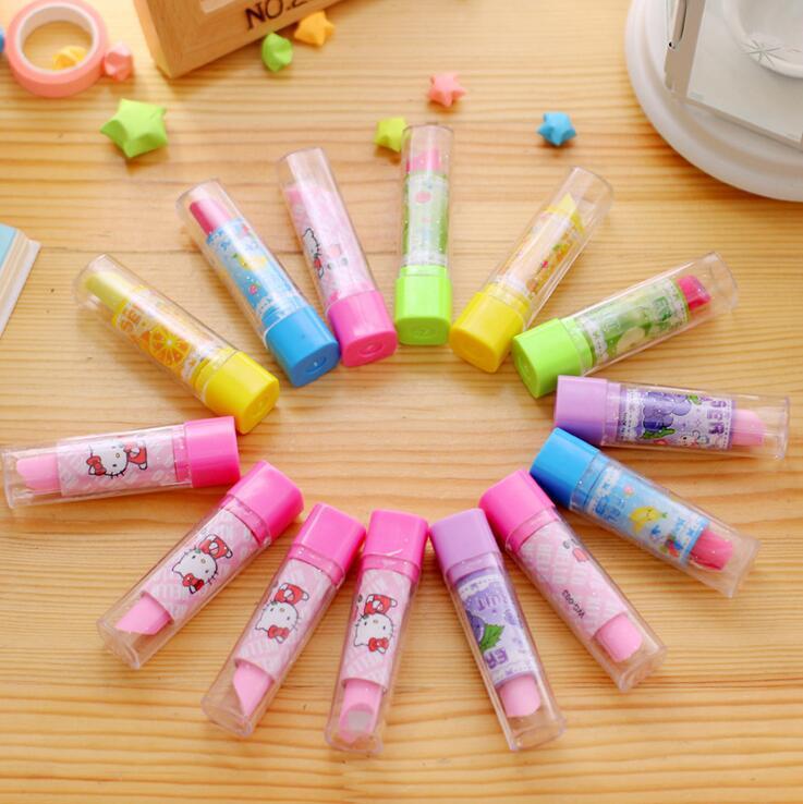 4 Pcs/set Kawaii Desain Lipstik Tidak Beracun Penghapus Siswa Hadiah Hadiah Anak Mainan Edukasi ...