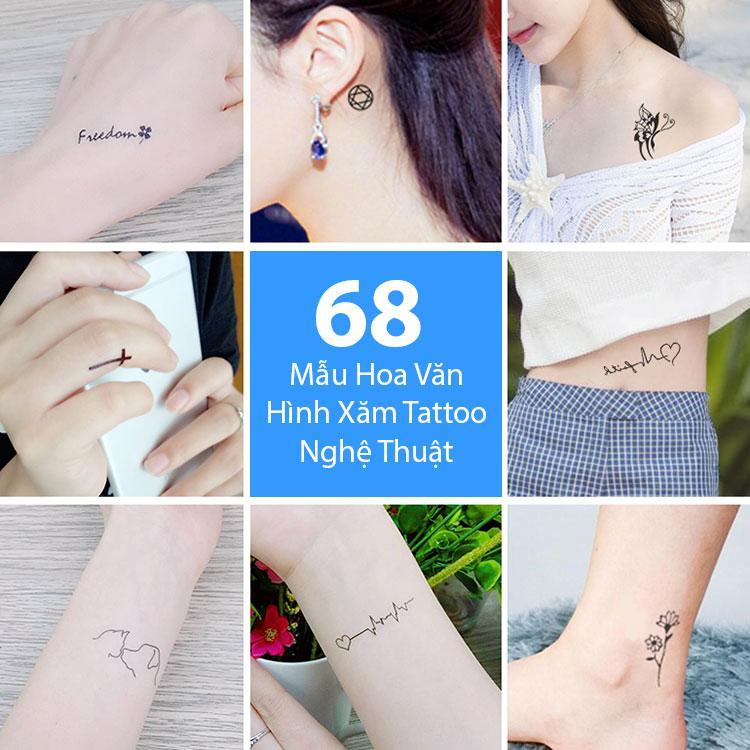 Hình ảnh Bộ 68 Mẫu Hình Xăm Dán, Hình Xăm Tattoo Cao Cấp Combo 30 Tờ - Mẫu B