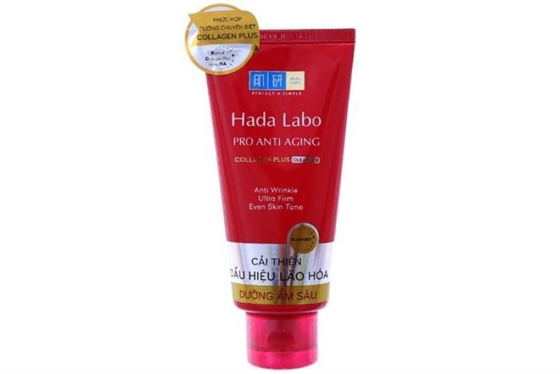 Kem rửa mặt dưỡng ẩm chống lão hóa Hada Labo 80gram