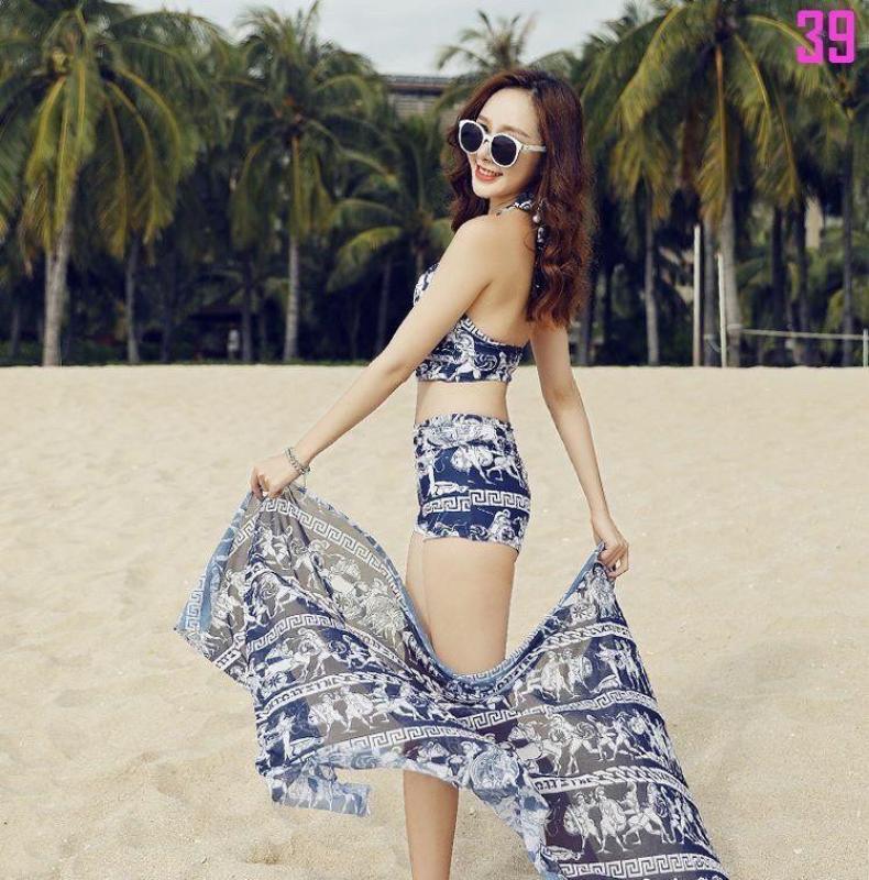 Nơi bán Bộ bikini 3 phụ kiện sành điệu chất cực đẹp tặng kèm 1 hoa đại đi biển size 7cm