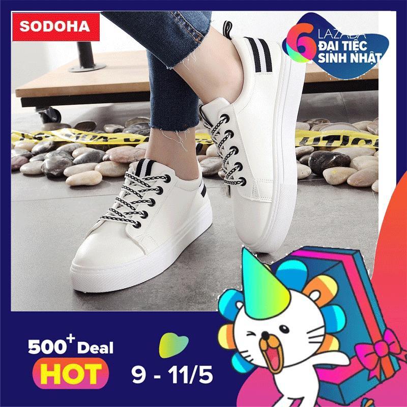 Ôn Tập Giay Sneaker Nữ Sieu Hot Sodoha Snn03 68Bw Sodoha