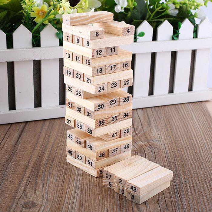 Hình ảnh Bộ đồ chơi rút gỗ 54 thanh cao cấp