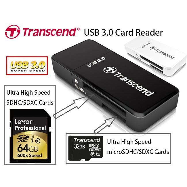 ĐẦu Đọc Thẻ Transcend USB3.0 F5 (Micro + SDHC)