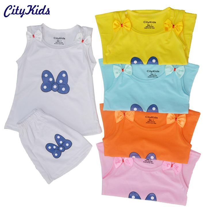 SET 5 Bộ quần áo trẻ em in hình con bướm CTKS03 (5 màu)