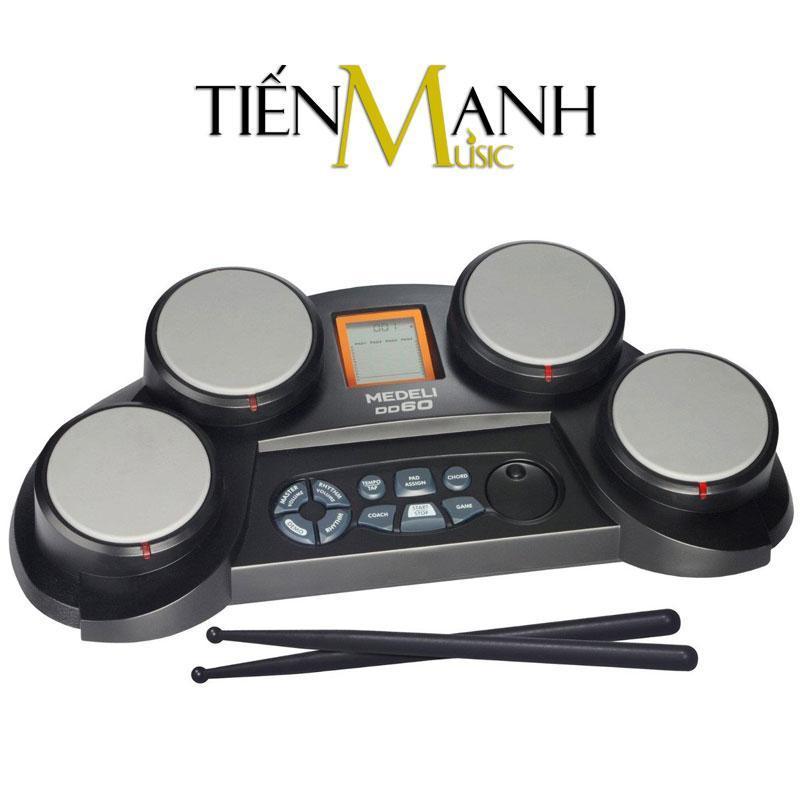 Bộ Trống điện tử Medeli DD60 (Electronic Portable Digital Drum - Kèm Nguồn, Dùi Trống)