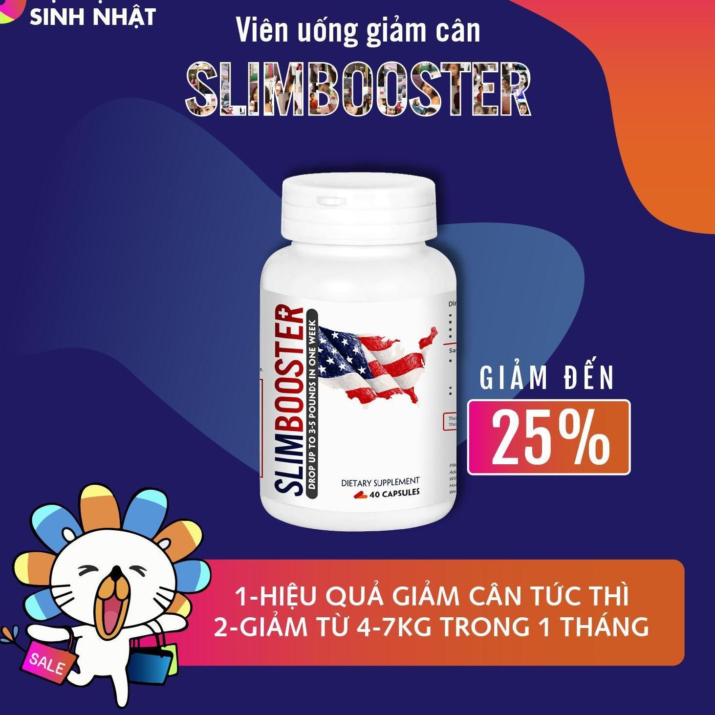 Cửa Hàng Vien Uống Hỗ Trợ Giảm Can Slimbooster Hồ Chí Minh