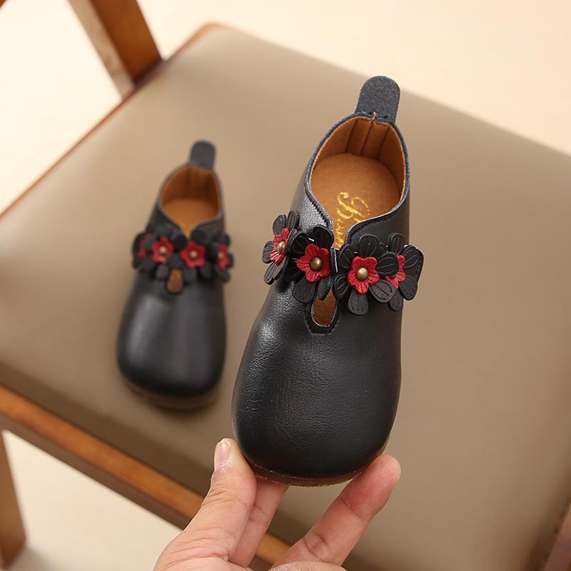 Anak-anak Sepatu Kulit 2019 musim semi model baru Sepatu bayi Gaya Korea anak prempuan anak perempuan sepatu putri anak kecil sepatu nenek Pijakan empuk tunggal