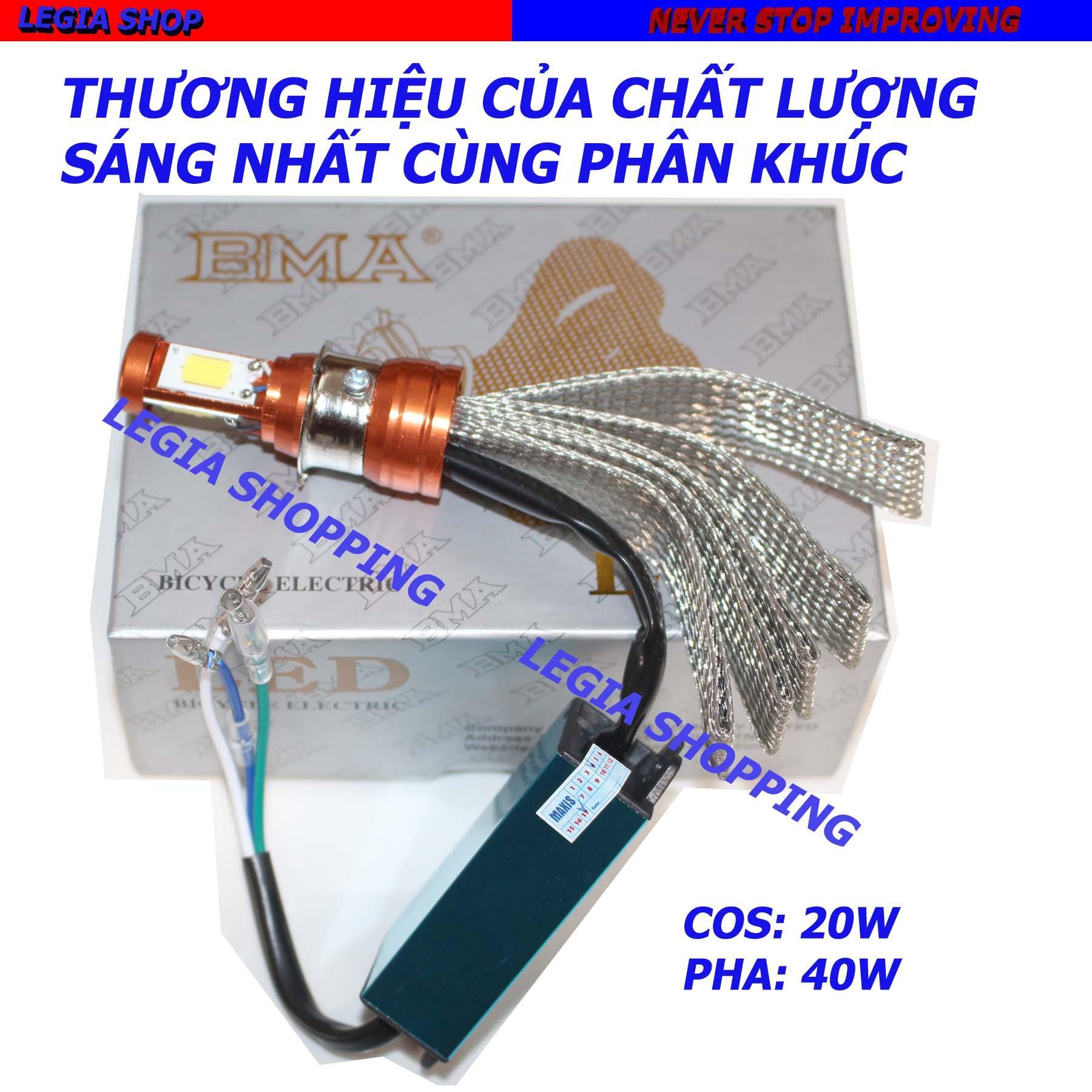 Mua Đen Pha Led Hiệu Bma 40W Chan M5 Gắn Xe Dream Wave Thai Wave I Alpha Viva Su Sport Bảo Hanh 3 Thang Bma