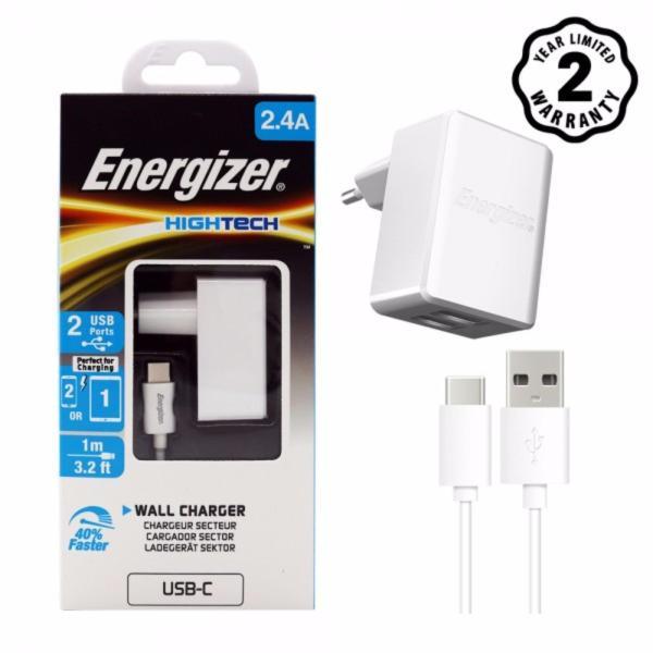 Sạc 2 cổng Energizer HT 2.4A màu trắng - ACA2BEUHWH3