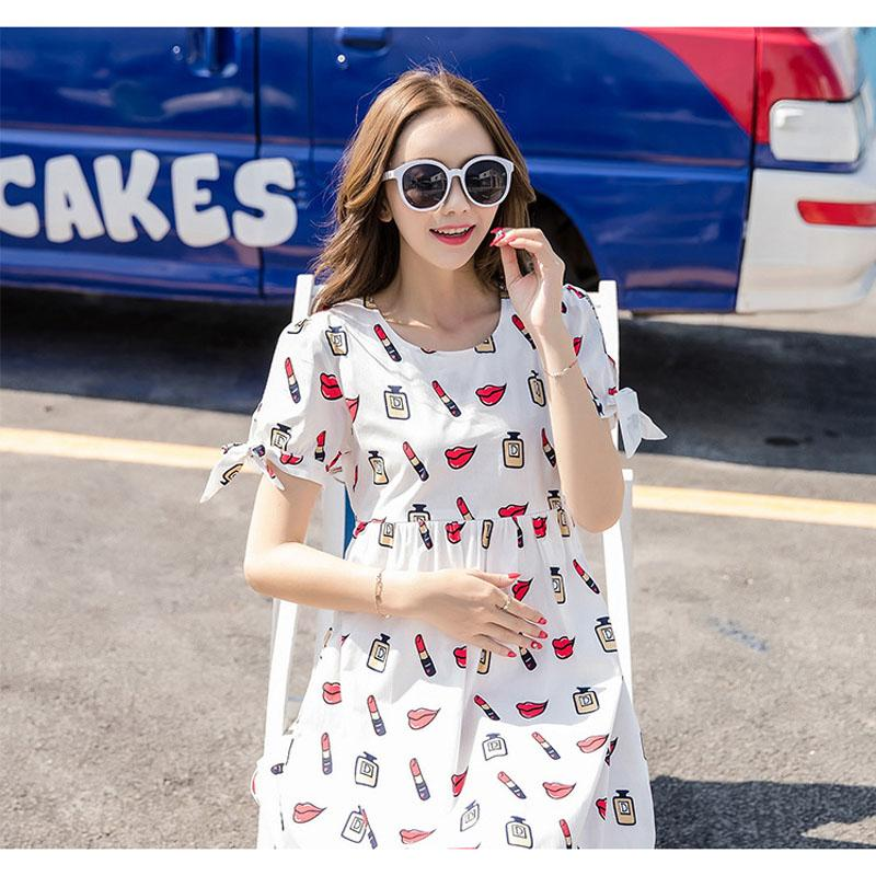 9f06cd2f10d97 Pregnant Women Summer Wear Dress 2019 New Style Fashion Mom Korean Style  Maternity Clothes Spring Clothing