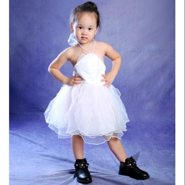 Giá bán Váy công chúa bé gái yếm trắng- đỏ lydobb