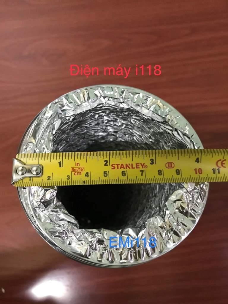 Hình ảnh Ống gió bạc mềm không bảo ôn đường kính 100mm -105mm