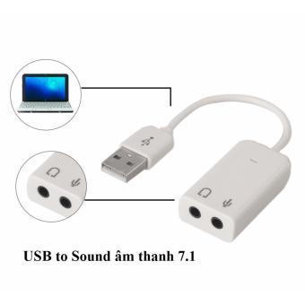 Hình ảnh Usb sound âm thanh 7.1 có dây (màu trắng)