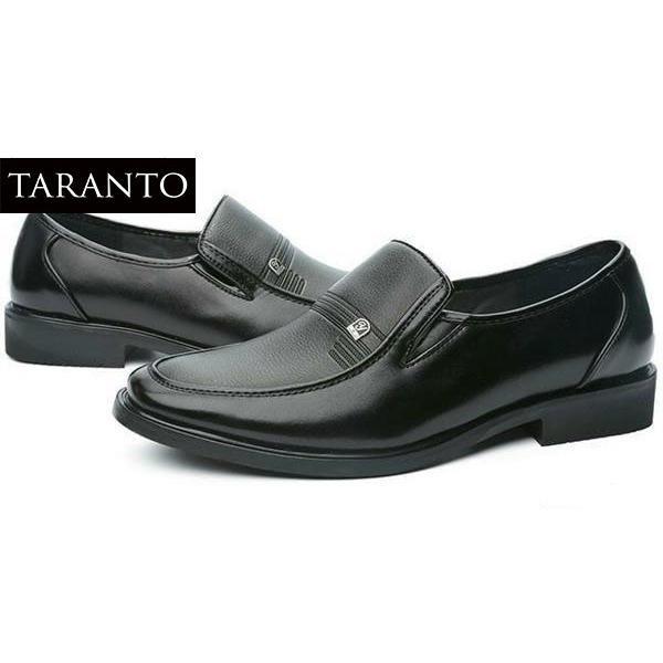 Ôn Tập Giay Tay Da Nam Taranto Trt Gtn 03 De Mau Đen Mới Nhất