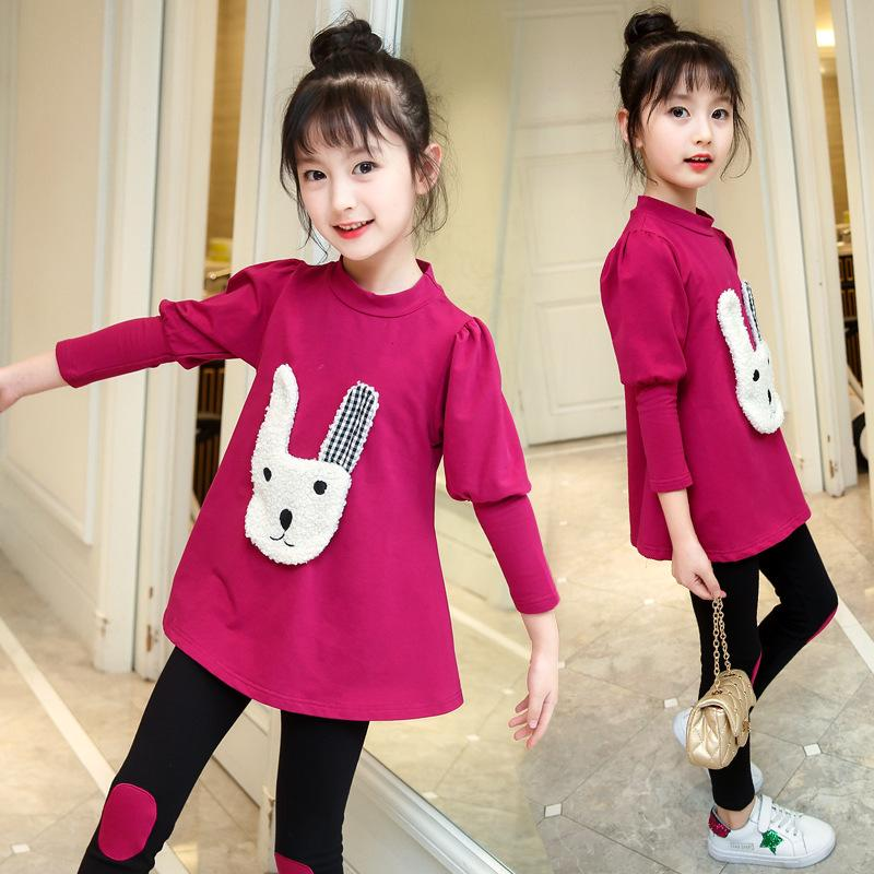 b93625dfa Girls Spring Clothing 2019 New Style Set Korean Style Big Boy Children  Spring And Autumn Western