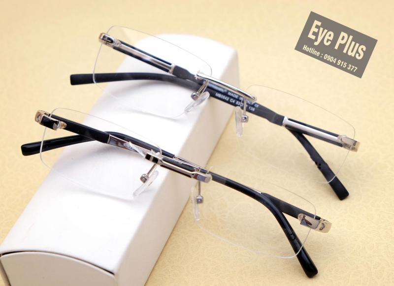 Giá bán [CAO CẤP] Mắt kính, gọng kính cận khoan cao cấp MB 10 nhựa nguyên chất, kim loại, kiểu dáng thể thao, bền bỉ