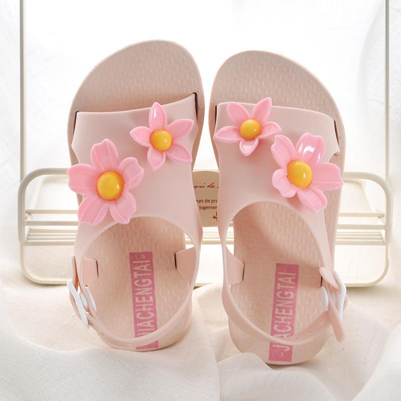 Sepatu Anak Anak Prempuan Sandal Summer Musim Panas 2018 Model Baru Petpet Anak-Anak Versi Korea Sol Datar Huado Sepatu Putri Anti Selip Sandal Pantai By Koleksi Taobao.