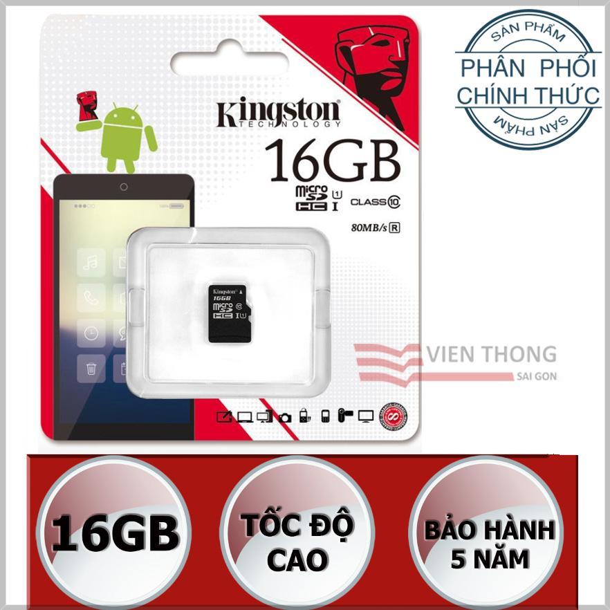 Bán Thẻ Nhớ 16Gb Kingston Uhs1 Up To 80Mb S Class10 Microsdhc Đen Hang Phan Phối Chinh Thức Rẻ Nhất