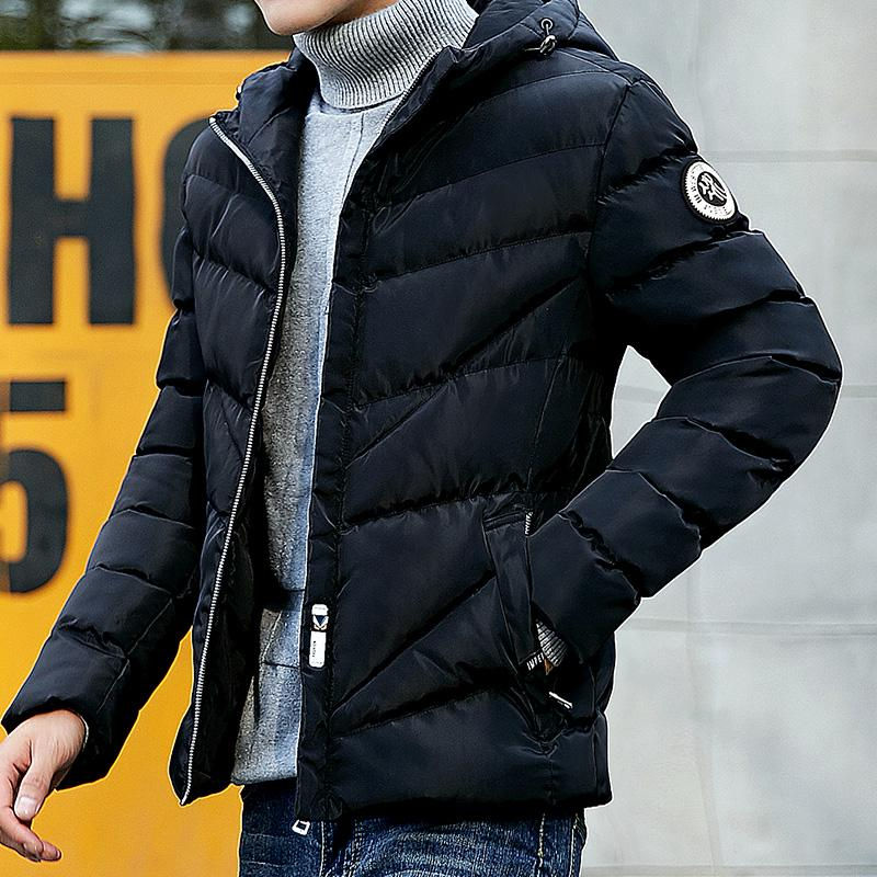 df71b0f95 Winter Cotton-padded Clothes Men Korean Style Slim Fit Youth Coat off  Season Leisure Short