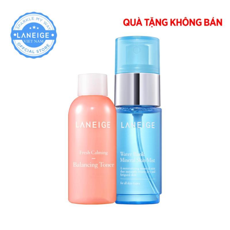(Hàng tặng không bán) Nước cân bằng Fresh Calming Toner 50ml + Xịt khoáng Mineral Skin Mist 30ml nhập khẩu