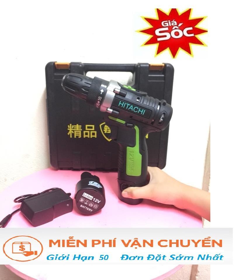 máy khoan pin - máy khoan 12v  - Hitachi
