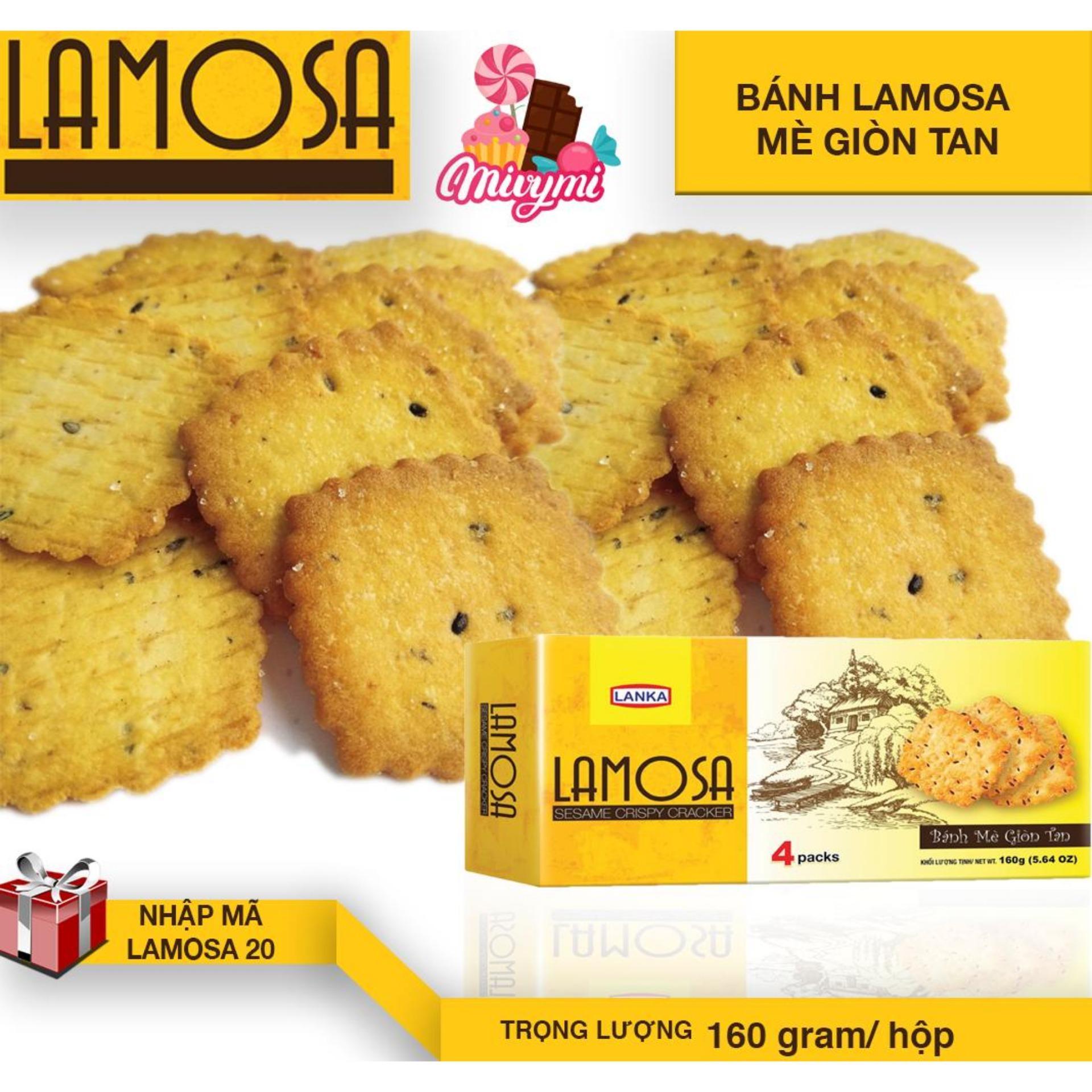 Hình ảnh Combo 3 Hộp LAMOSA mè giòn tan 160g