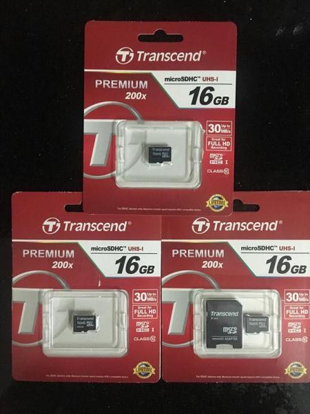 Thẻ Nhớ MicroSDHC Transcend Premium 16GB Class 10