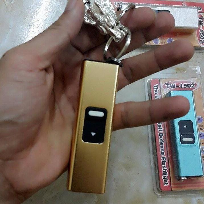 Hình ảnh Đèn pin mini kiêm móc khóa màu vàng