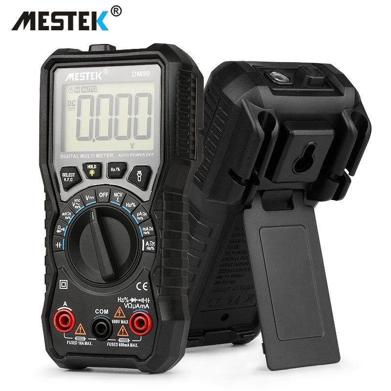 MESTEK DM90 mini multimeter digital multimeter auto range tester multimetre better than pm18c multi meter multitester - intl