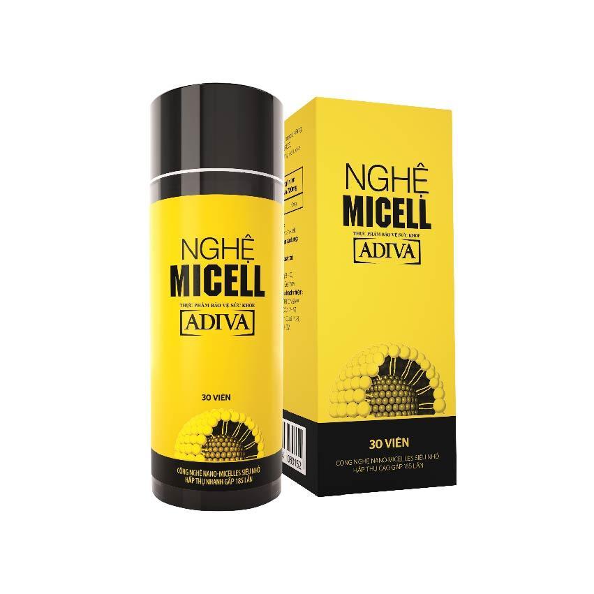 Thực phẩm bảo vệ sức khỏe Nghệ Micell ADIVA 30 viên