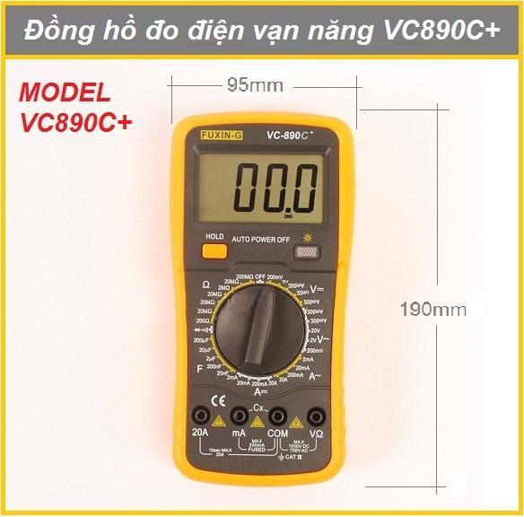 Đồng hồ đo điện tử vạn năng Model - VC890C+