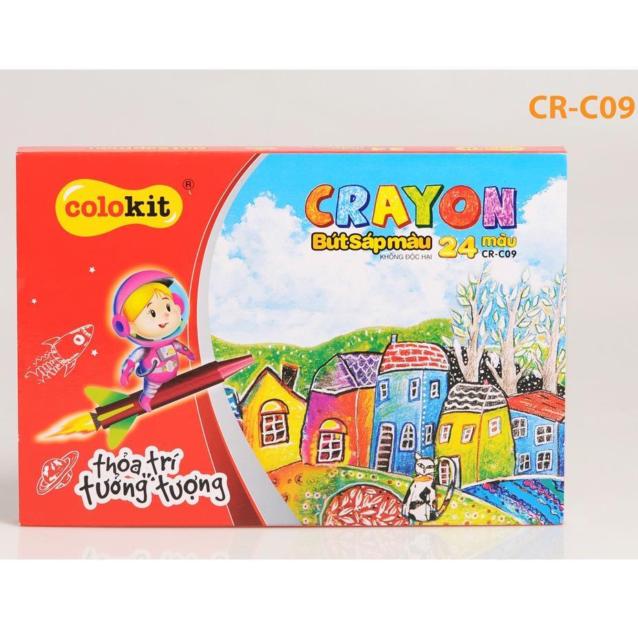 Hình ảnh Sáp màu CR-C09 (24 màu)
