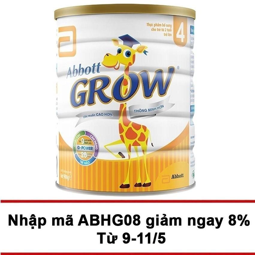 Mã Khuyến Mại Sữa Bột Abbott Grow 4 G Power Hương Vani 900G Grow