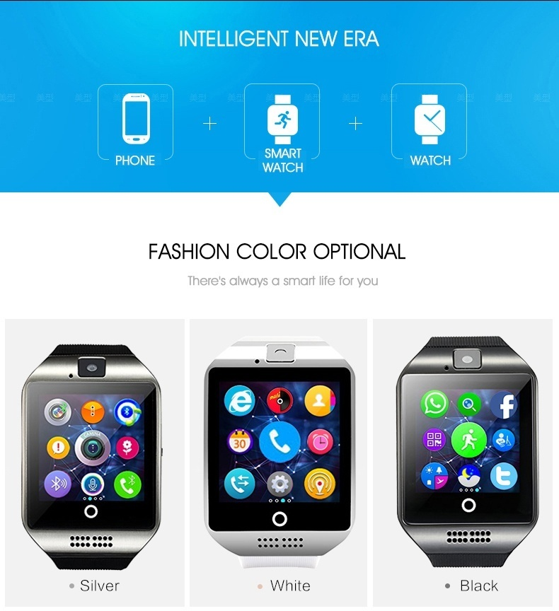 Phone+smart watch+watch. Fashion color optional:Silver,white,black