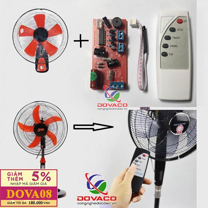 Hình ảnh Vỉ mạch điều khiển quạt DOVACO- Chữ tiếng anh ( có cầu chì bảo vệ )
