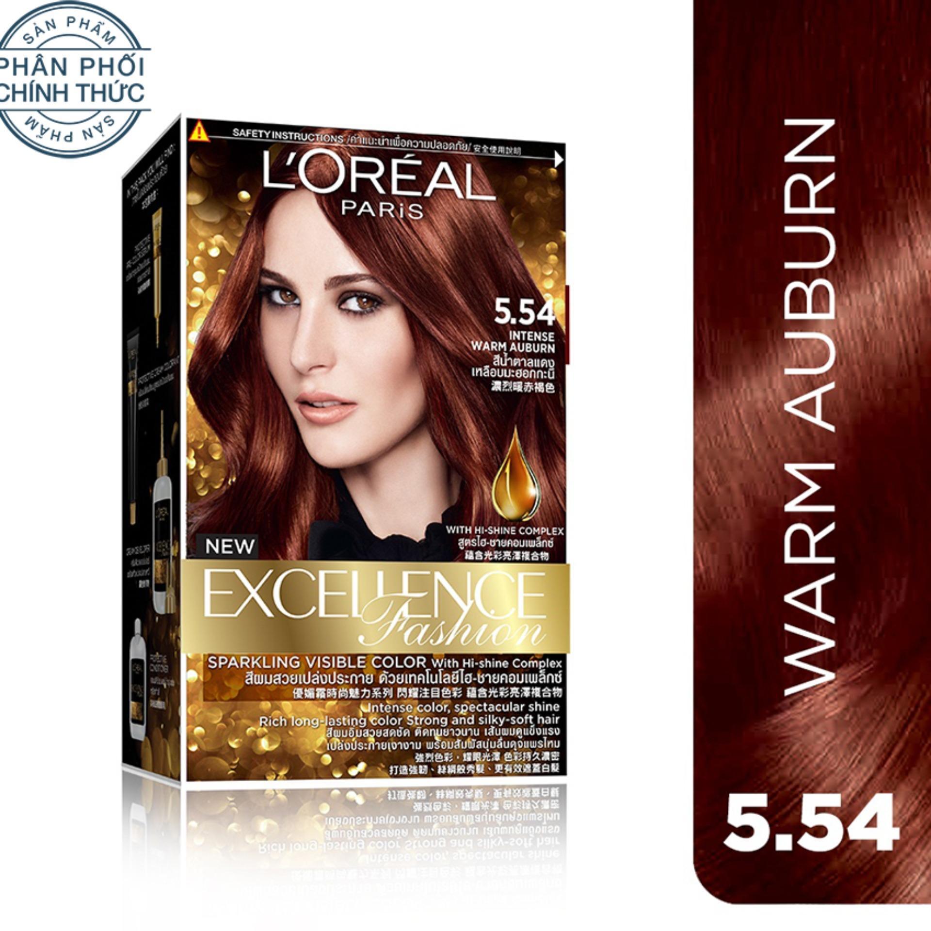 Ôn Tập Kem Nhuộm Dưỡng Toc L Oreal Paris Excellence Fashion Mau 5 54 172Ml Nau Đỏ Anh Cam Mới Nhất