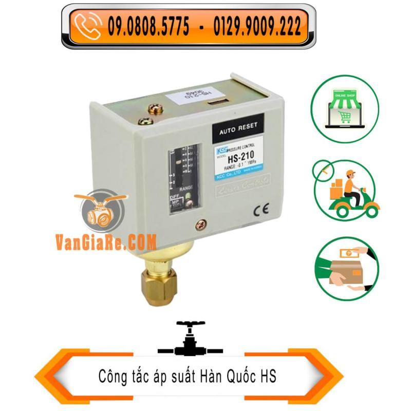 Rơ le áp suất HS-206 6kg Hàn Quốc - công tắc áp suất