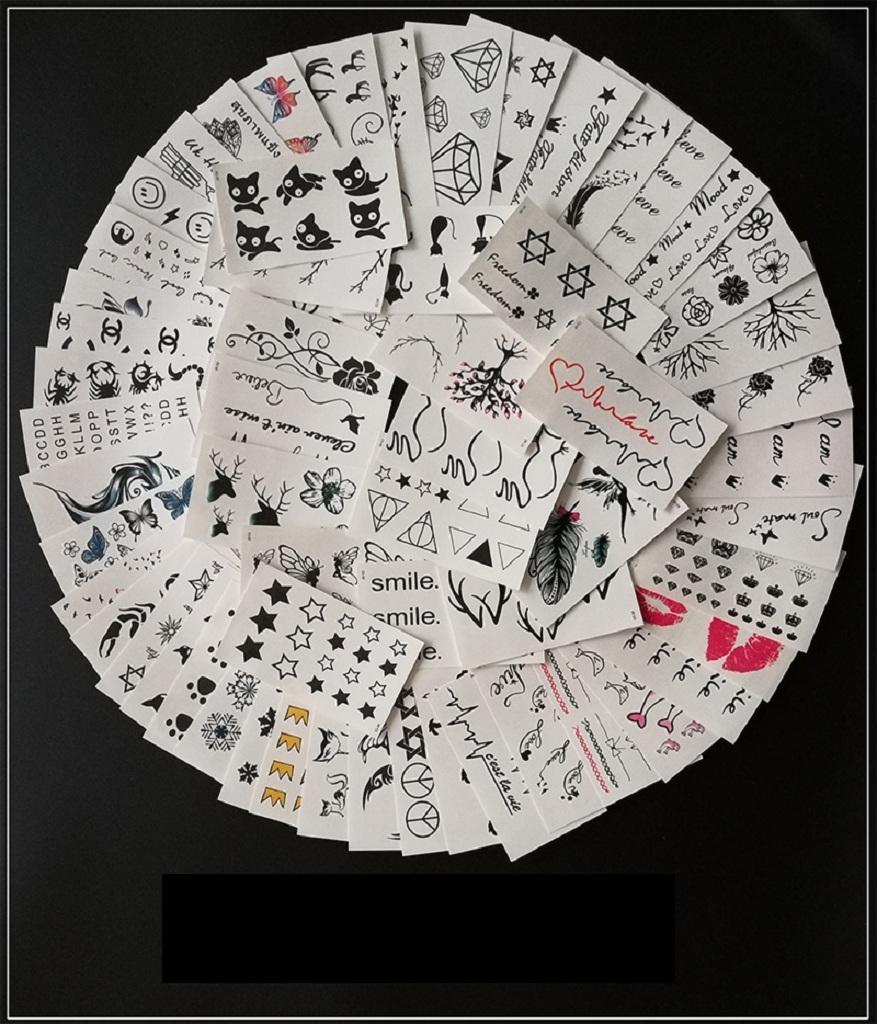 Hình ảnh COMBO 50 HÌNH XĂM DÀNH CHO NỮ( lông vũ + chữ + mèo + bướm + hoa + thiên thần + nhịp tim + đầu lâu + tôn ngộ không..... )