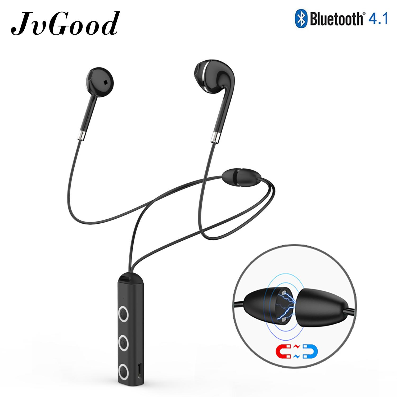 JvGood Wireless Earbuds Necklace Earphones Bluetooth Headsets Hands-free  Earphones Sports Headphones Stereo Voice Announcement 3857d5b80c
