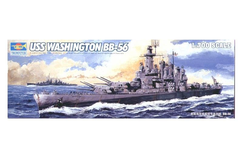 Hình ảnh Mô hình tàu chiến - thiết giáp hạm USS WASHINGTON BB-56