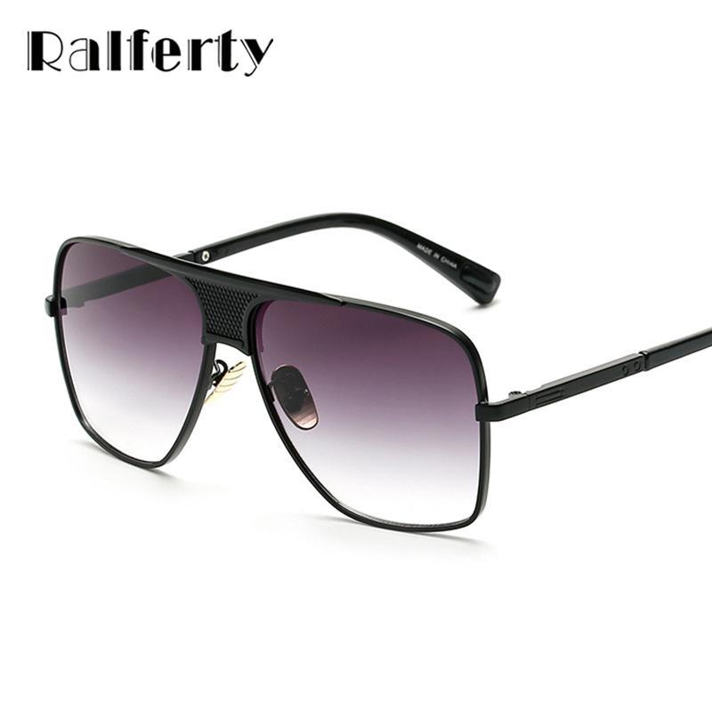 ffebb62dc57 Ralferty New Vintage Sunglasses Men Women Retro Sun Glasses Oversized  Gradient Glasses Gold Metal Eyeglasses UV400