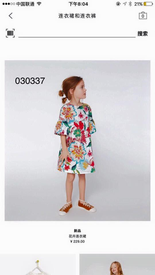 Giá bán Đầm thô hoa bé gái Zara Tqxk