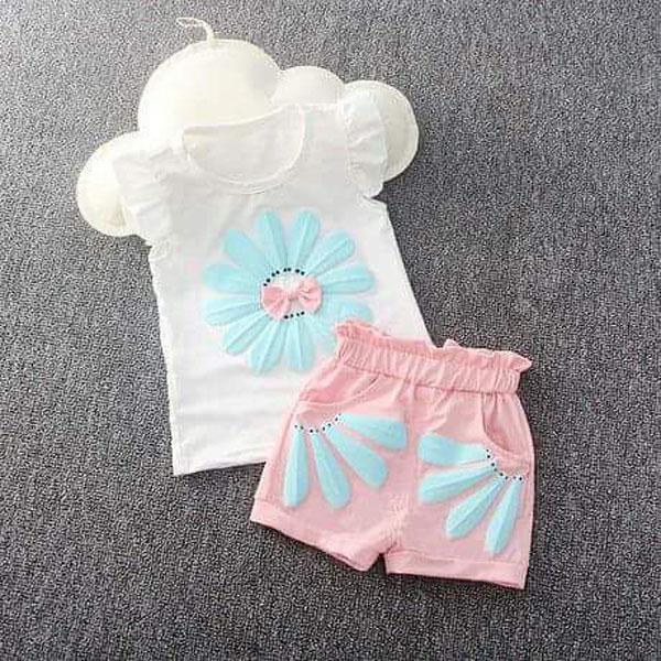 Bộ bông hoa cotton cho bé gái từ 1-5 tuổi