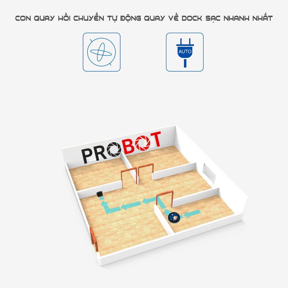Máy hút bụi lau nhà Probot Tesvor 990 Google Alexa