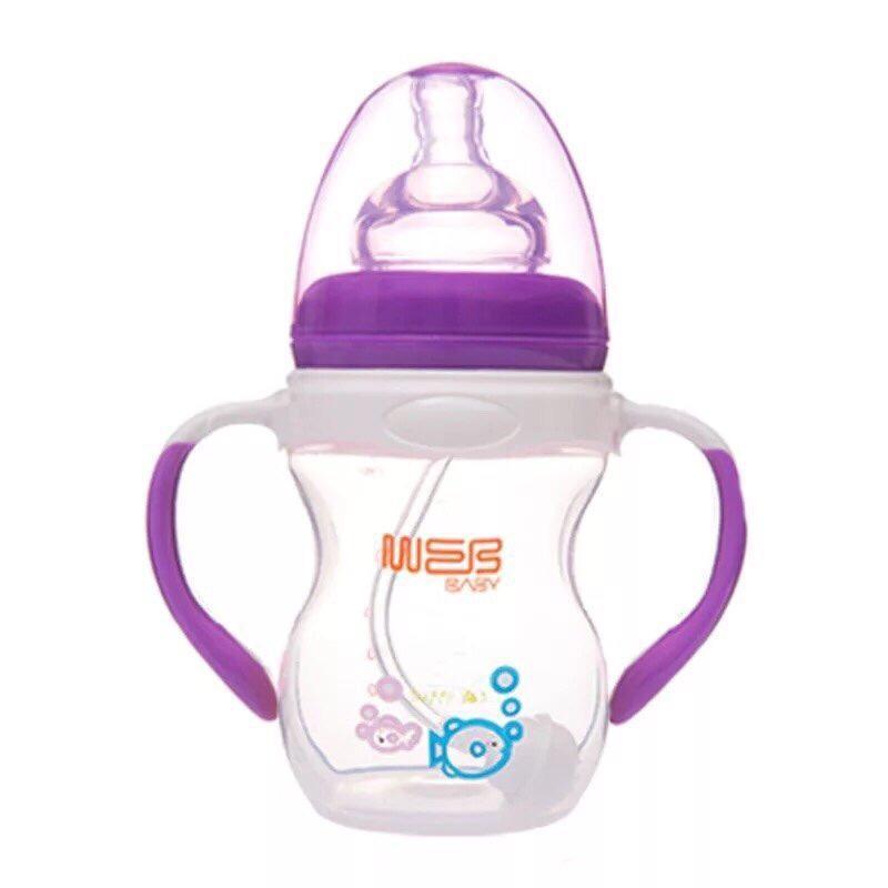 Bình sữa cổ rộng 260ml 320ml chống sặc tốt cho bé, dễ vệ sinh akas